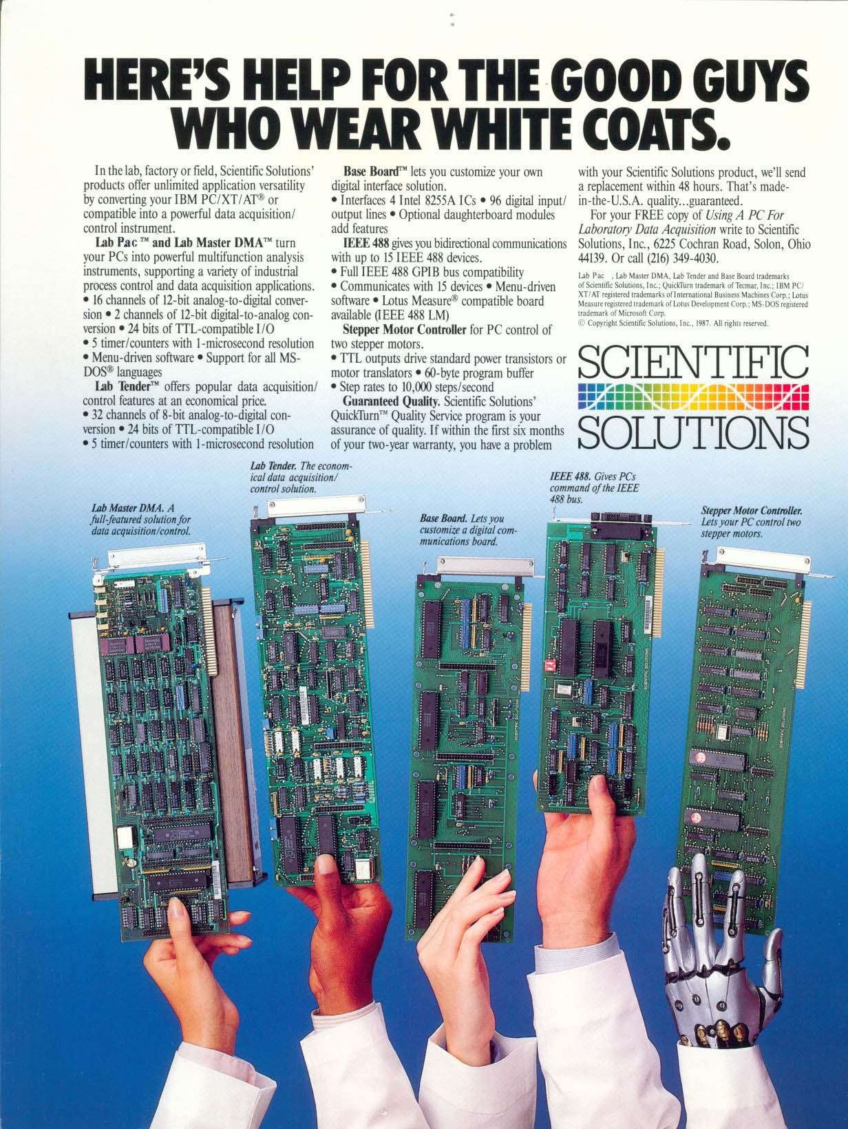 Scientific Solutions Inc. - History